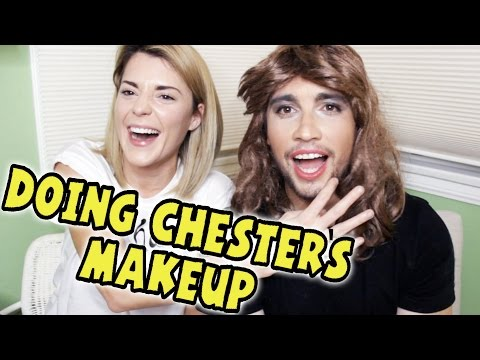 DOING CHESTER SEE'S MAKEUP // Grace Helbig