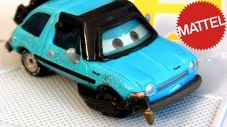 Cars 2 Petey Pacer with Torch Lemons Diecast NEW 2013 Disney Pixar toys blue Acer 1:55 scale
