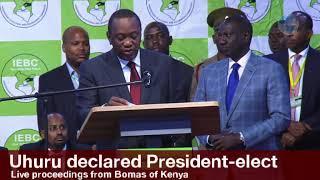 Uhuru Kenyatta's speech after being declared president elect