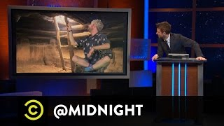 Rhys Darby, Al Madrigal, Jim Jefferies - O Say Can Busey - @midnight with Chris Hardwick