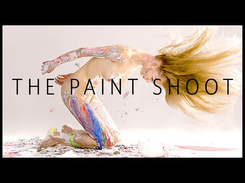 Fashion photography blog: The paint Shoot behind the scenes