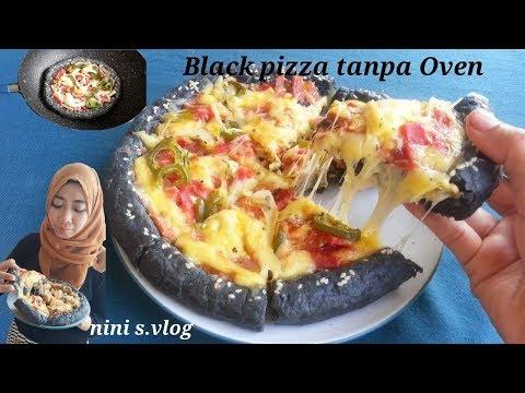 Simple membuat black pizza tanpa oven