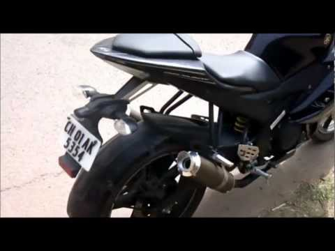 yamaha r15 version 2.0 double exhaust modification sound Chandigarh 09569449732