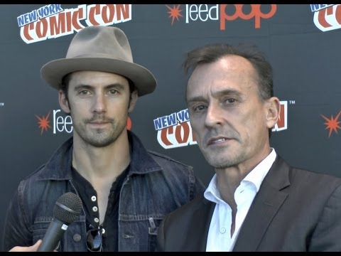 ROBERT KNEPPER and MILO VENTIMIGLIA! Mob City Interviews at NYCC 2013