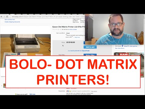 What I Sold on eBay and Amazon FBA + a BOLO - Dot Matrix Printers