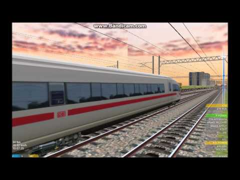 OpenBVE HD: Siemens CNR Corporation CRH380BL Station Stopping (Still in DB Paint)