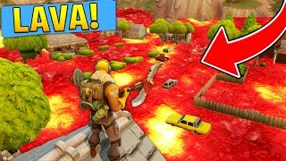 THE FLOOR IS LAVA!! (Fortnite Battle Royale Challenge)