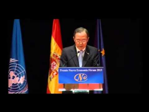 Ban Ki-moon, 2013 New Economy Forum Prize (Madrid, Spain)