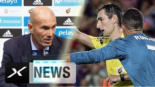 "Zinedine Zidane bangt nach Rot um Ronaldo: ""Zu hart"" | FC Barcelona - Real Madrid 1:3 | LaLiga"