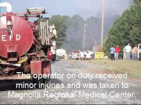 Oil tank farm explosion and fire