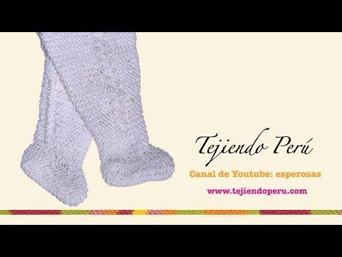 Pie o zapatito para pantalón de bebé tejido en dos agujas o palitos (Parte 1)