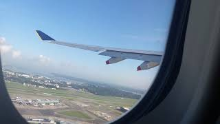 Flight take off from changi airport