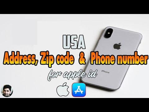 Unlimited USA Address, ZIP code and Phone Number for Apple id