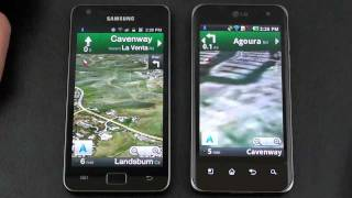 Samsung Galaxy S II vs LG Optimus 2X Dual Core Face Off