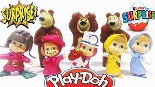 Masha and the Bear NEW 2016 Play Doh Surprise Eggs Toys Маша и Медведь Сюрприз Игрушки