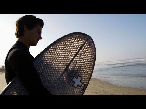 Riding Waves on a Cardboard Surfboard