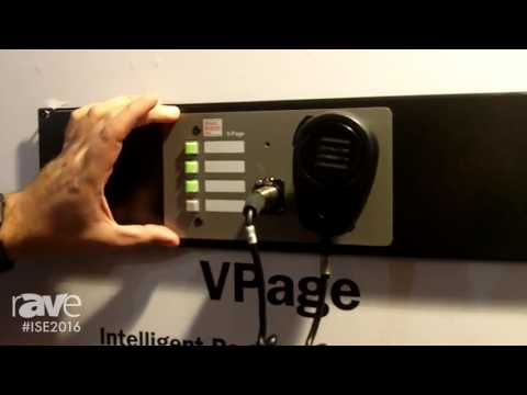ISE 2016: Alcorn McBride Highlights VPage Intelligent Station with POE
