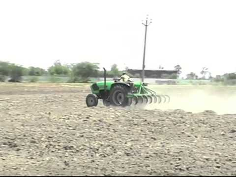 Tractor Stunt With Deutz Fahr Agrolux 60 (57hp) With 15 Tine Cultivator video