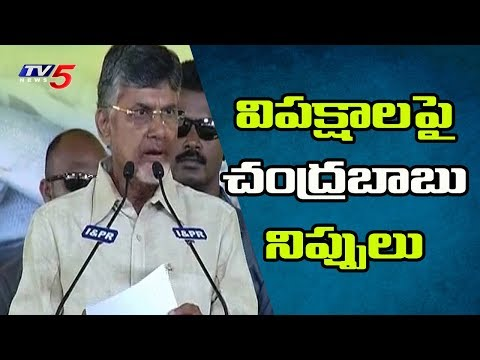 AP CM Chandrababu Fires On Opposition Parties In Grama Darshini Program | TV5 News