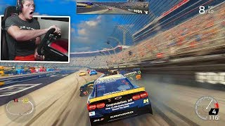CRAZY RACE AT BRISTOL (NASCAR Gameplay with Wheel)