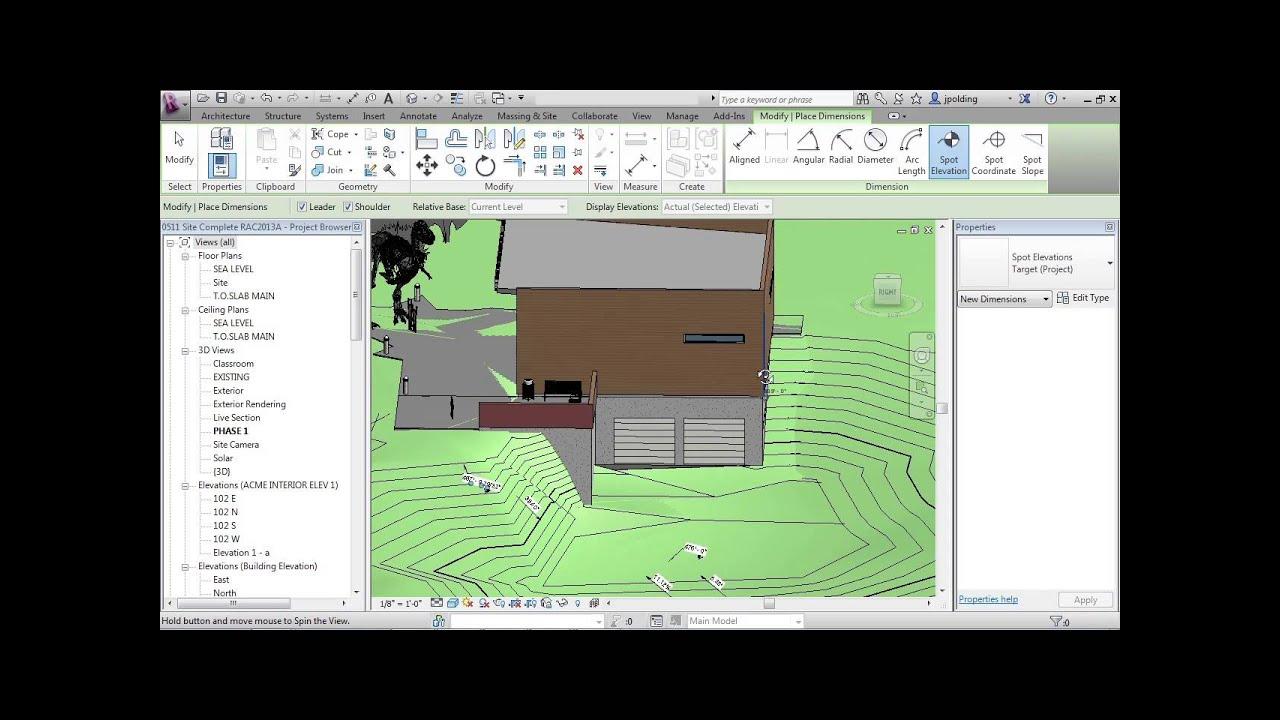 Spot Elevation Plan Revit : Advanced revit architecture tutorial spot elevation