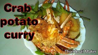 Crab potato curry// varutharacha crab curry // thani nadan cooking malayalam