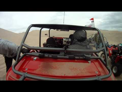 Kid Gets Sand Blasted by Dune Buggy