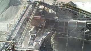 Crusher and processing plant at Martin Marietta's Guernsey Quarry