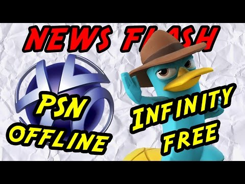 PSN down after DDOS attack and Disney Infinity free on Wii U - News Flash