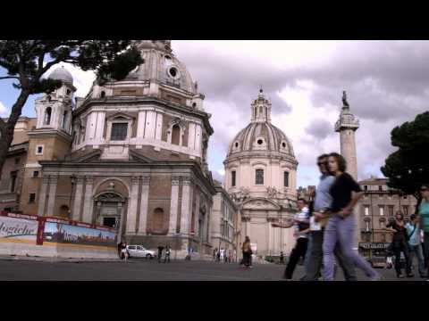 Tourists walking around Rome Italy.