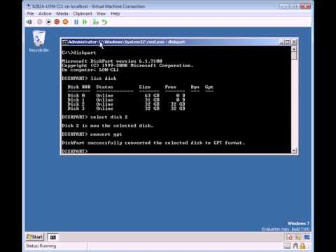 Converting an MBR Partition to A GPT Partition.avi