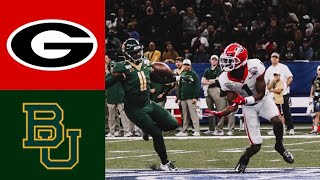 #5 Georgia vs #7 Baylor Sugar Bowl First Half Highlights | 2020 College Football Highlights