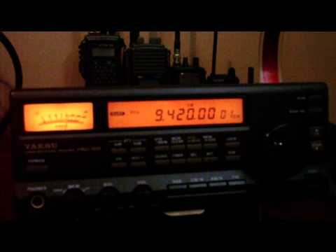 Voice Of Greece, 9420 MHz, Yaesu FRG-100