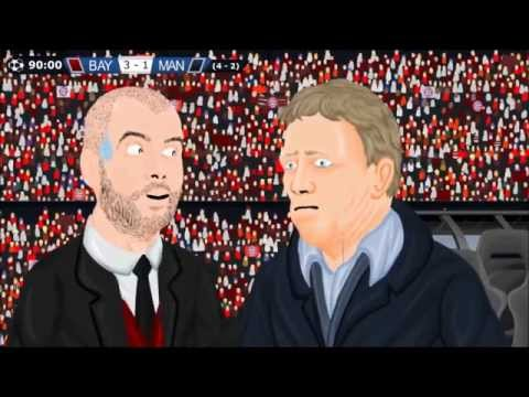 Bayern Munich 3-1 Manchester United Champions League 10/4/14 Parodia