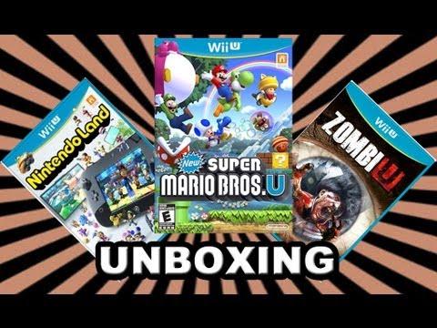 Nintendo Wii U: Games (unboxing) PT - BR