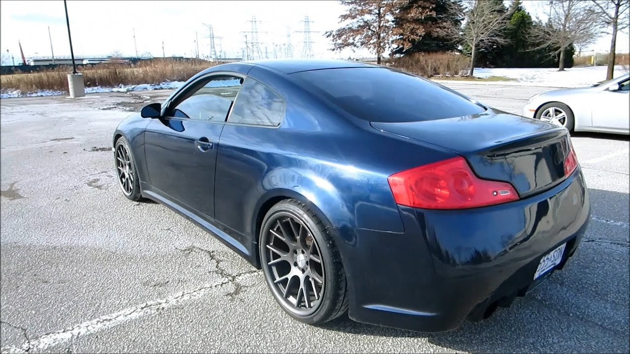 New Infiniti G35 Coupe >> Vossen G35 Coupe [NEW MODS] Walkaround with Exhaust - YouTube