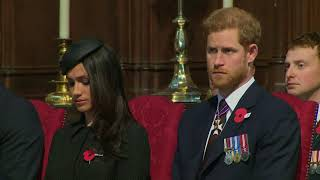 Meghan Markle, Prince Harry and Prince William attend Anzac Day service - 5 News