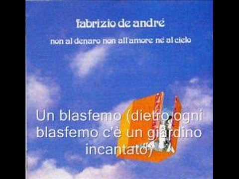 Fabrizio De Andre - Un Blasfemo