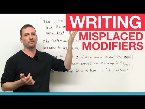Writing – Misplaced Modifiers