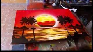 Sunset spray art