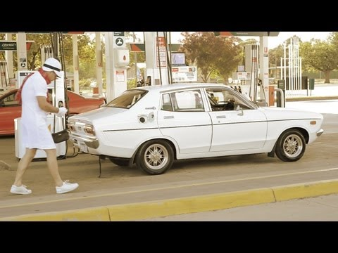 Dorothy loves lawn bowls - Datsun 120Y sleeper