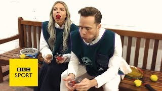 Wimbledon 2017: Olly Murs and Louisa Johnson go head-to-head - BBC Sport