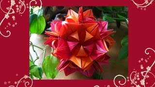 Origami  Frau Marta  Kusudama