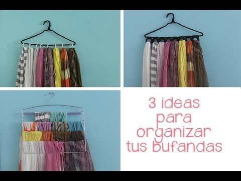 3 ideas para organizar tus bufandas youtube - Ideas para colocar los bolsos ...