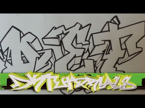 How to draw graffiti wildstyle - Graffiti Letters DEF step by step