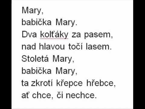 Babička Mary - karaoke