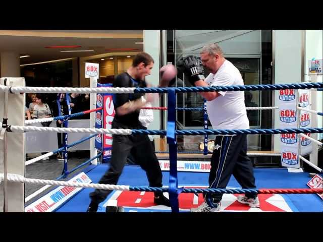 Ricky Burns WBO World Champion Public Workout St Enochs Glasgow