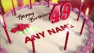 Happy birthday animation cake video with name and age and wishes