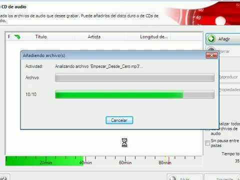 GRABAR CD DE AUDIO NERO 7