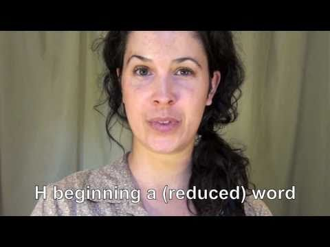 How to Link: words that begin with H – American English Pronunciation